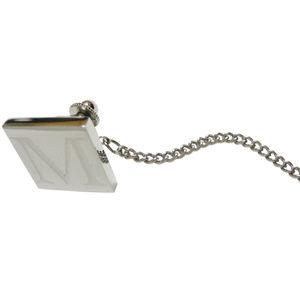 Letter M Etched Monogram Pendant Tie Tack